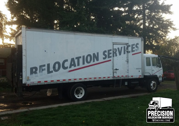 Precision Relocation Services promo shot of truck
